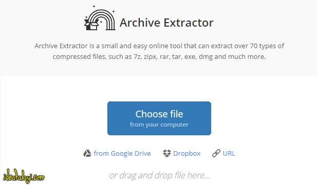 استخراج آنلاین فایل های RAR