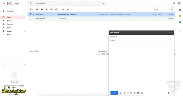 طراحی جدید جیمیل گوگل