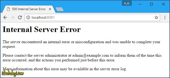 ارورهای رایج فضای وب