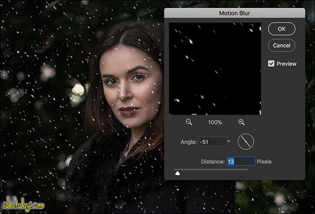 افکت بارش برف در فتوشاپ